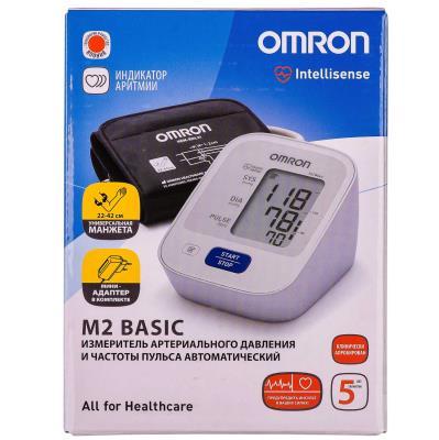 ТОНОМЕТР Omron M2 Basic HEM-7121-ALRU автоматический с адаптер.