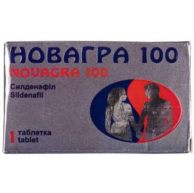 Новагра 100 таблетки, п/плен. обол. по 100 мг №1