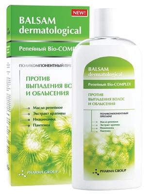 Бальзам Pharma Group Laboratories Репейный Bio-COMPLEX против выпадения волос, 200 мл