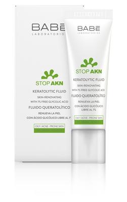 Флюид Babe Laboratorios Stop AKN кератолитический с гликолевой кислотой для проблемной кожи, 30 мл