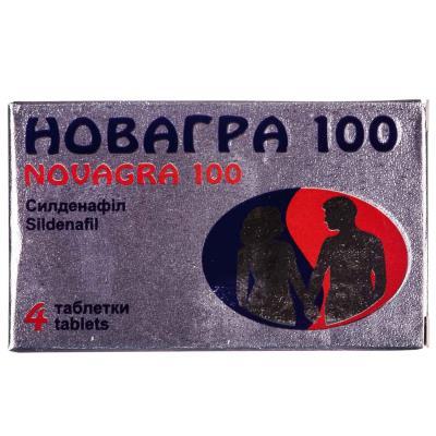 Новагра 100 таблетки, п/плен. обол. по 100 мг №4
