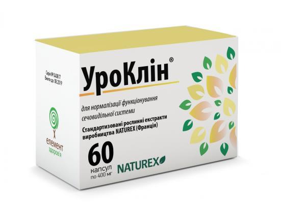 УРОКЛИН капсулы по 400 мг №60 (10х6)