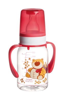 """Бутылочка Canpol Babies """"Цветная ферма"""" BRA Free 11/823 с рисунком и ручкой , 120 мл"""