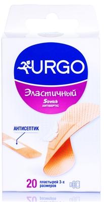 Набор пластырей медицинских Urgo Эластичный с антисептиком, 20 штук