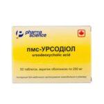 Пмс-урсодиол таблетки, п/о по 250 мг №50 во флак.