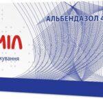 Вормил таблетки д/жев. по 400 мг №3