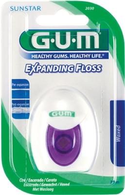 Зубная нить GUM Expanding Floss, с эффектом расширения, 30 метров