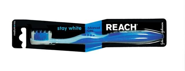 Зубная щетка Reach Stay White, жесткая, 1 штука
