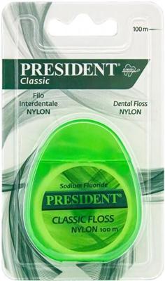 Зубная нить President Classic из нейлона, 100 метров