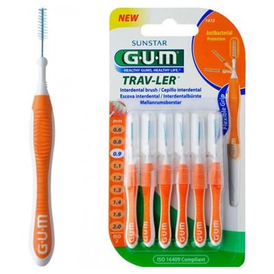 Интердентальные щетки GUM TravLer, 0,9 мм, 6 штук