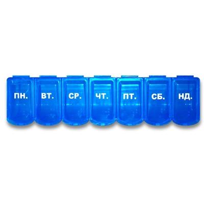 Органайзер пластиковый Enjee РТ 6028 для таблеток линейка 7 дней