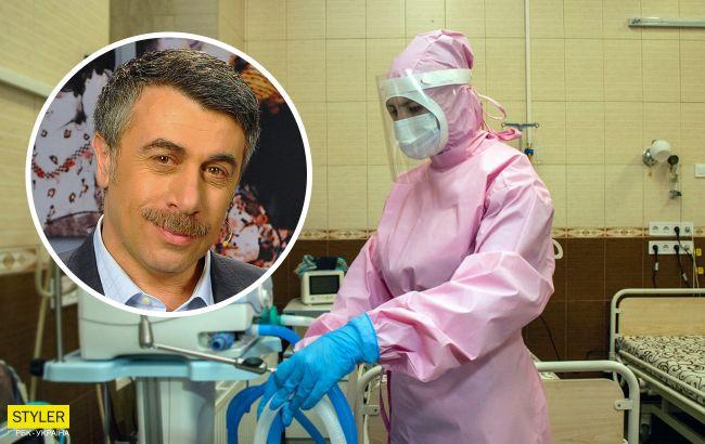 Таким больным с коронавирусом нужно в больницу: Комаровский назвал три важных показателя